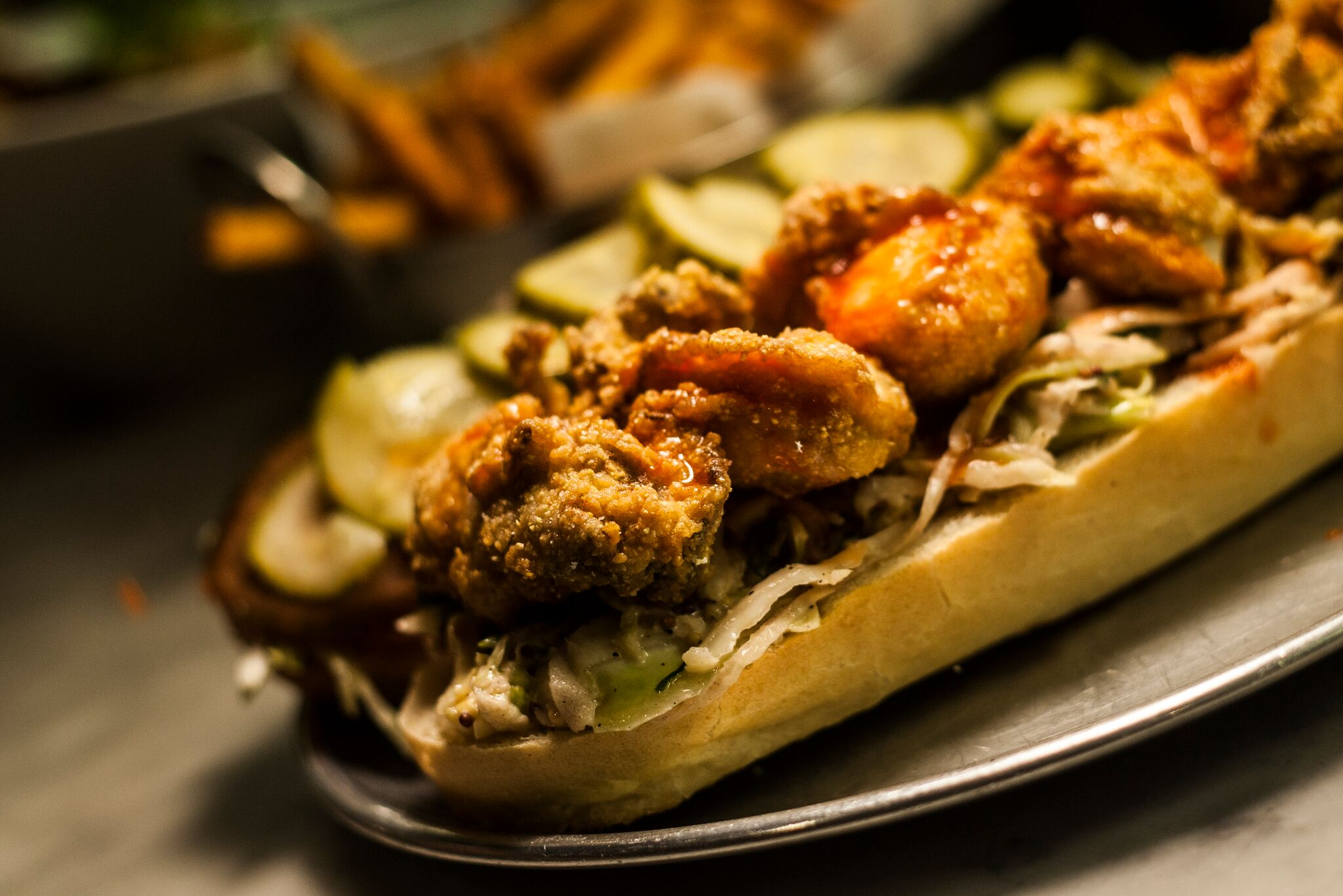 Fried Shrimp & Oyster Po' boy