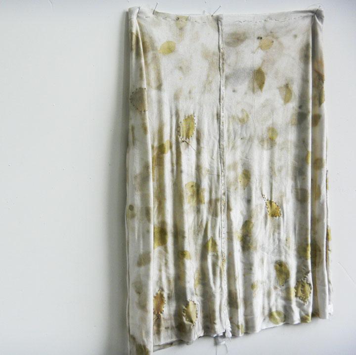 Apple skirt, in process, Christine Mauersberger, 2013