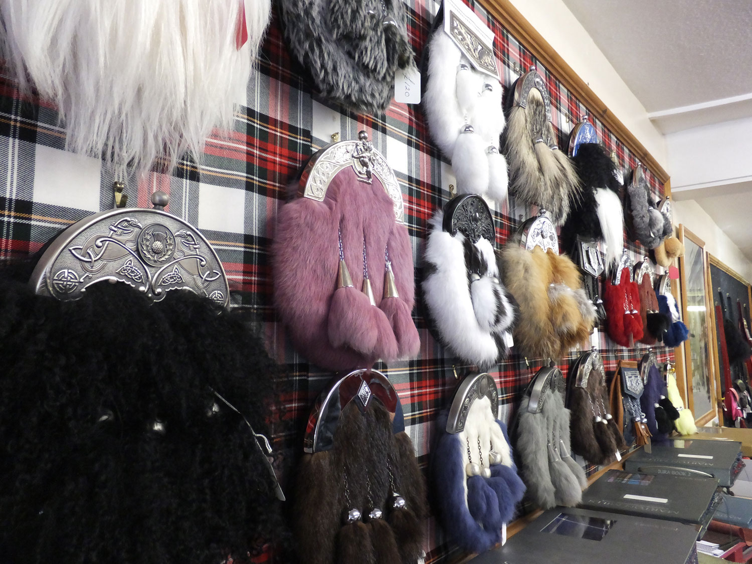 Photo taken in Janet Eagleton MBE and Son, Kilt and Sporran Makers Shop, Perth, Scotland. 8/31/13