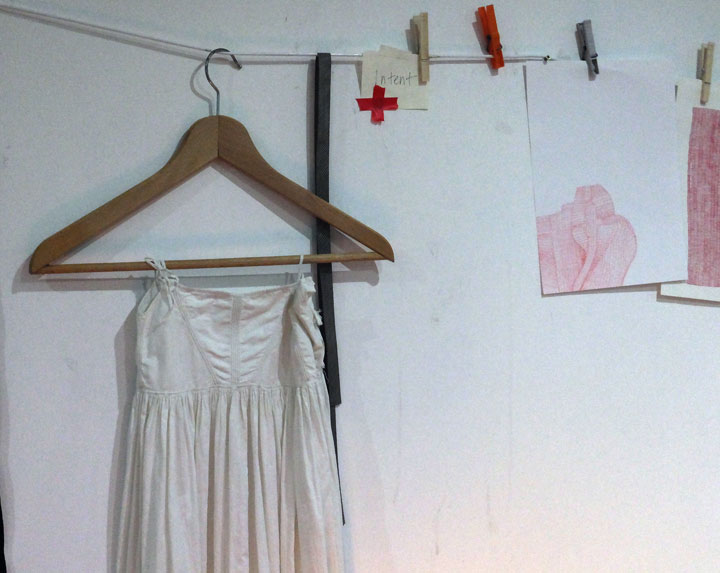 Part of the inspirational objects I placed on my wall at Big Cat Textiles during week 2 in studio.