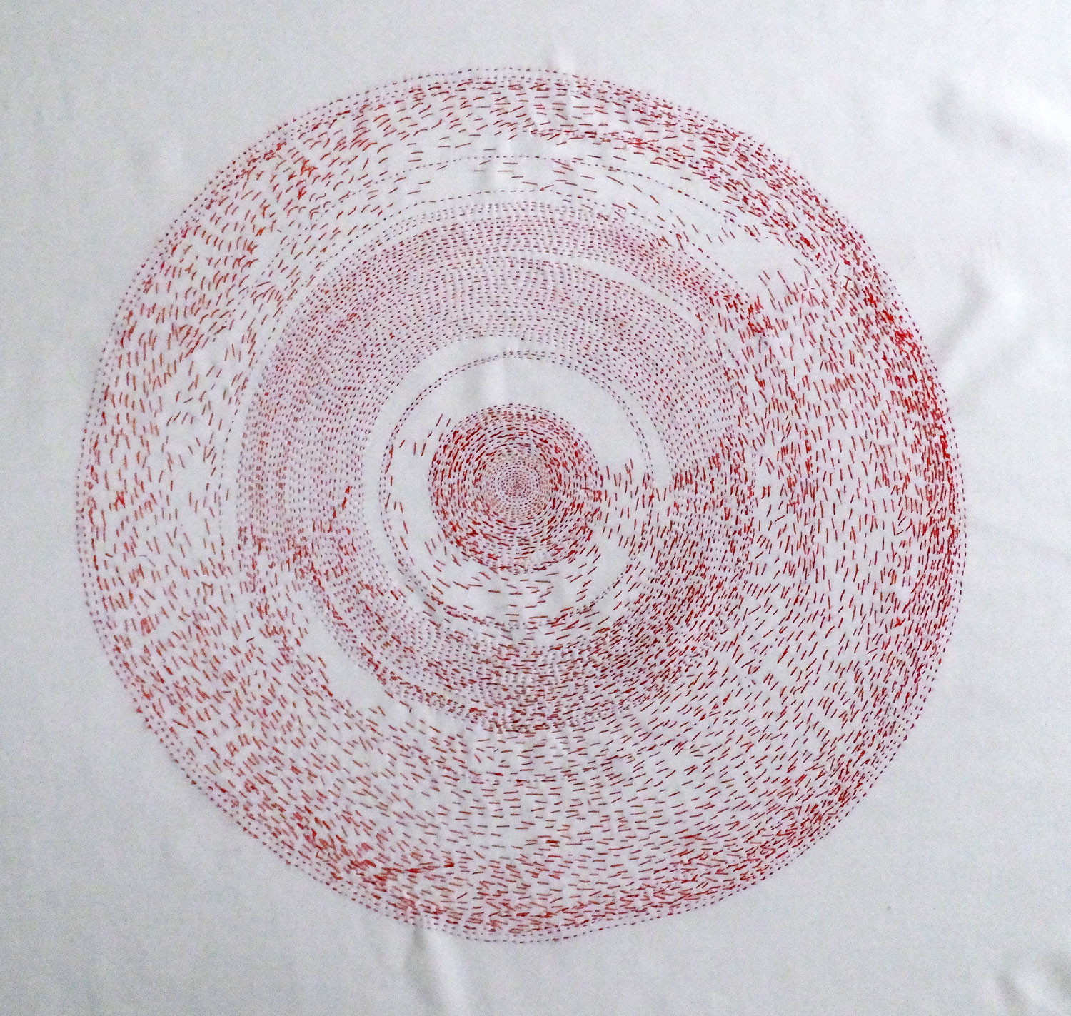 "Work in progress, the circle is approximately 22"" wide."
