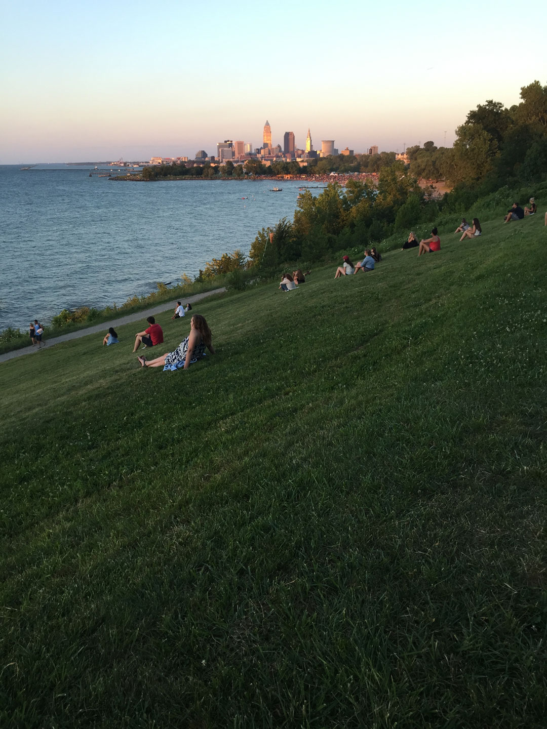 Cleveland had a bronze-gold glow that evening.