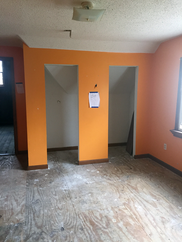 Room in Abandon house located at 5703 E. 54th Street, Cleveland, Ohio