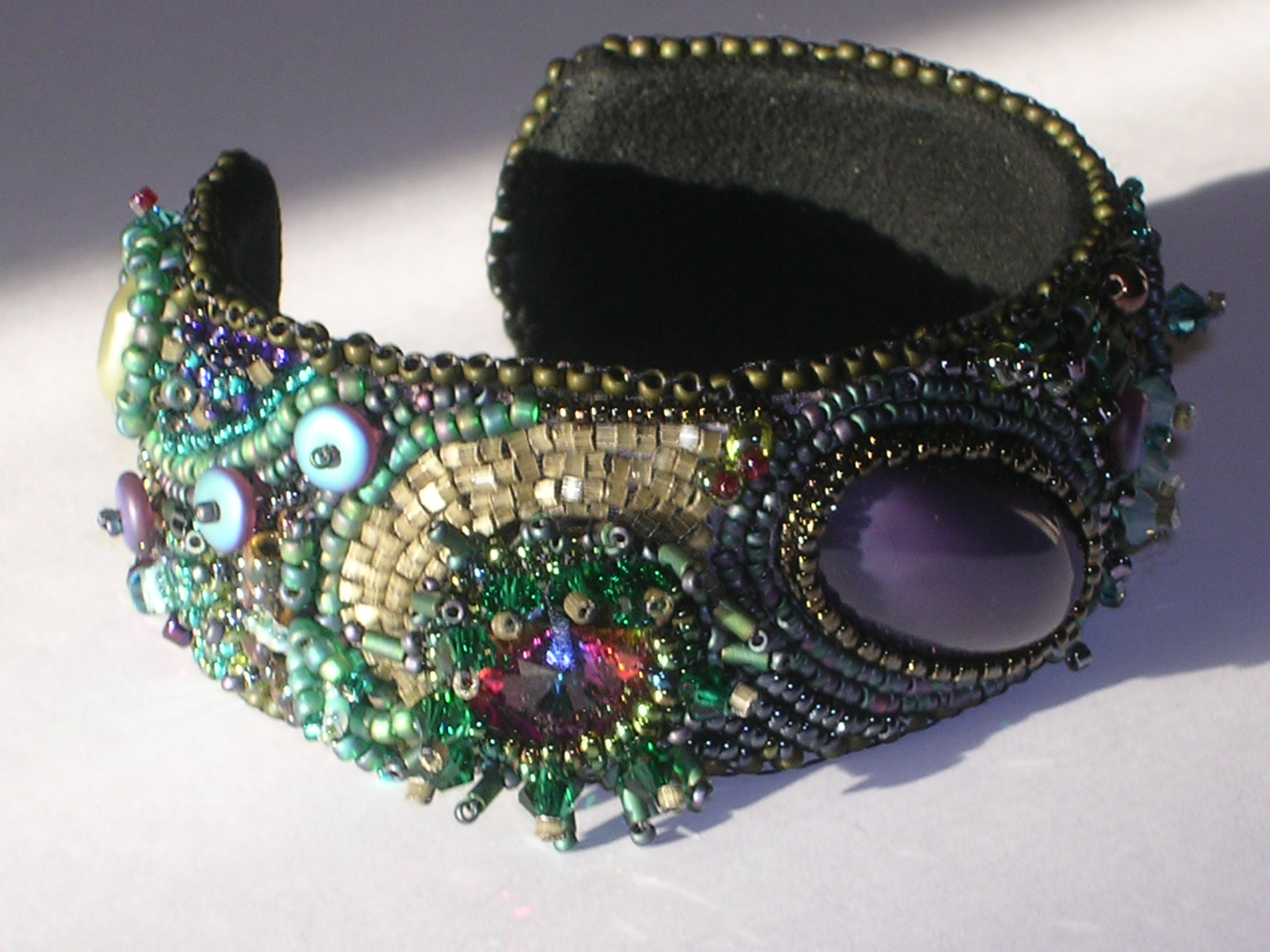 I was heavily invested in beadwork. (read hundreds of dollars of beads)  making cuffs by using beading.