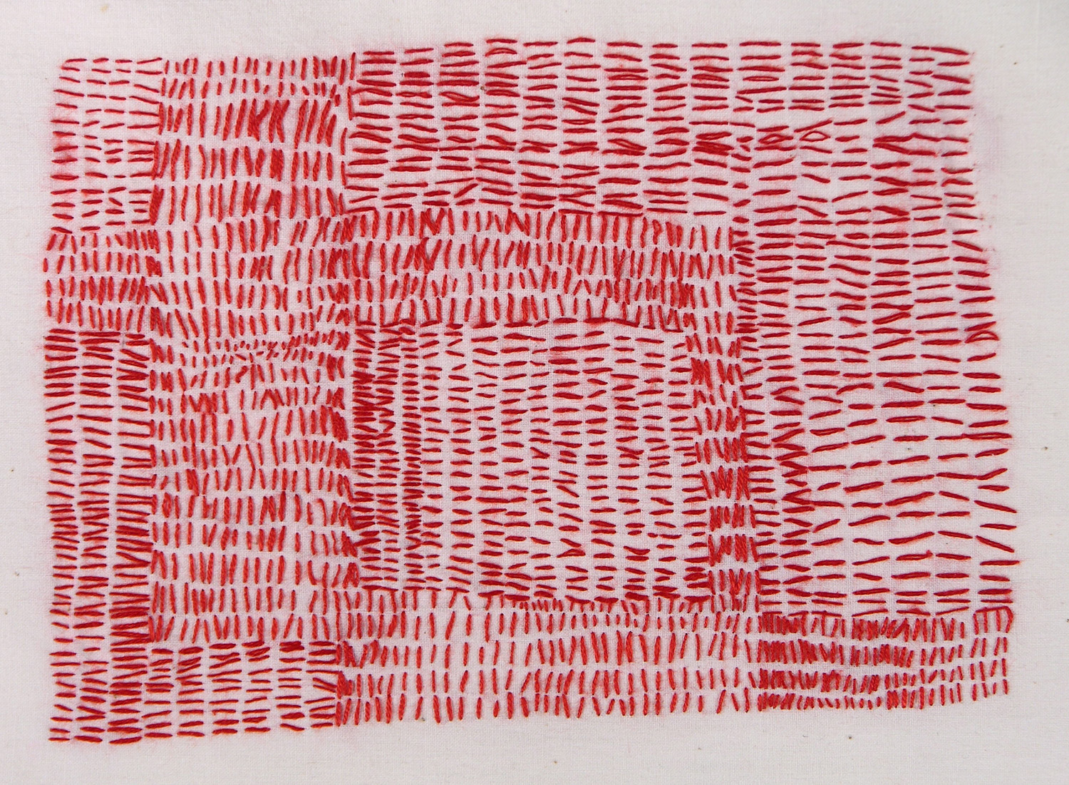 STITCHED RED MAP, 2009