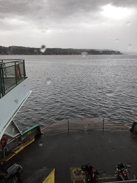 As seen the ferry to Whidbey Island where I taught in early October.