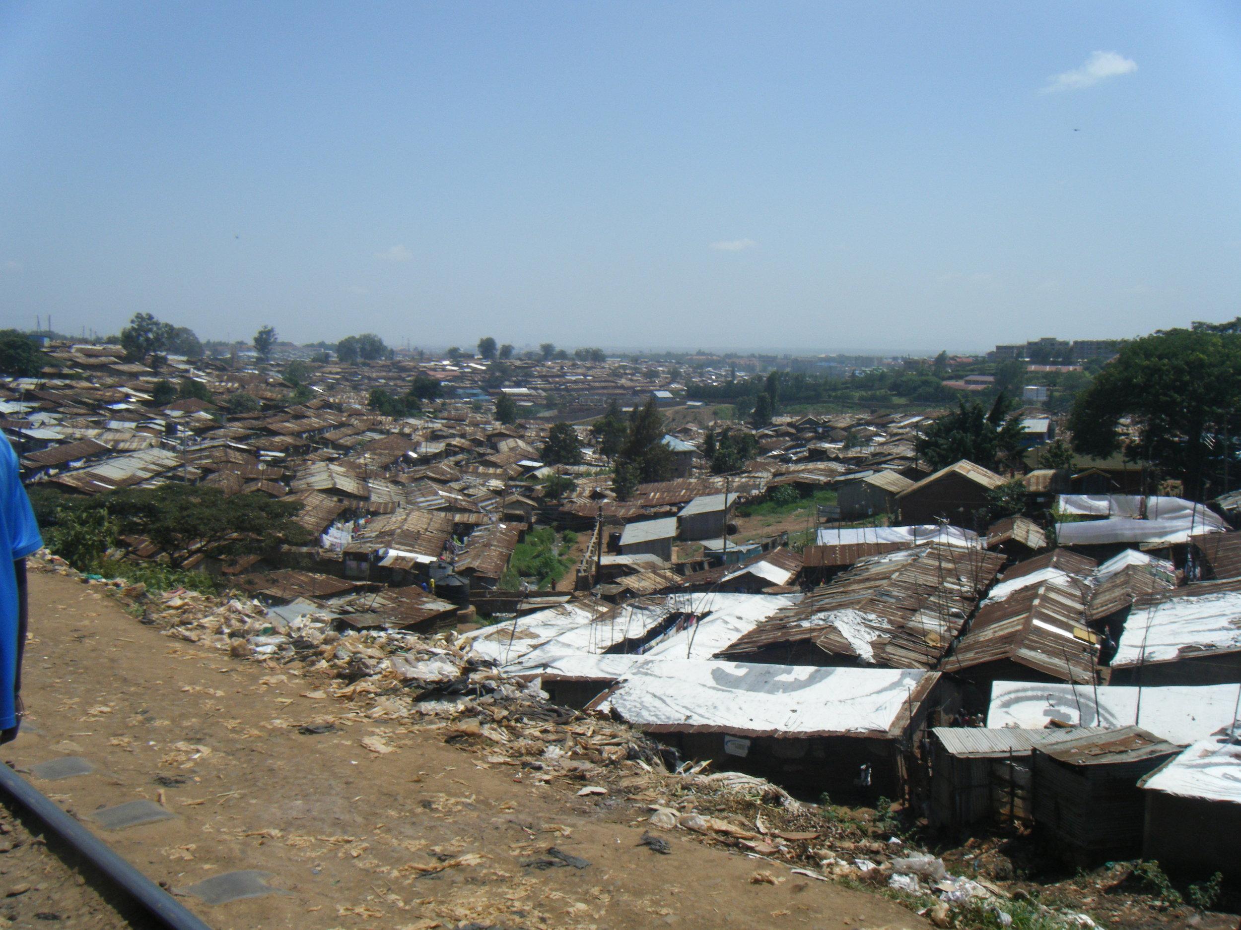 Kibera Slum - The Largest Urban Slum in Africa.