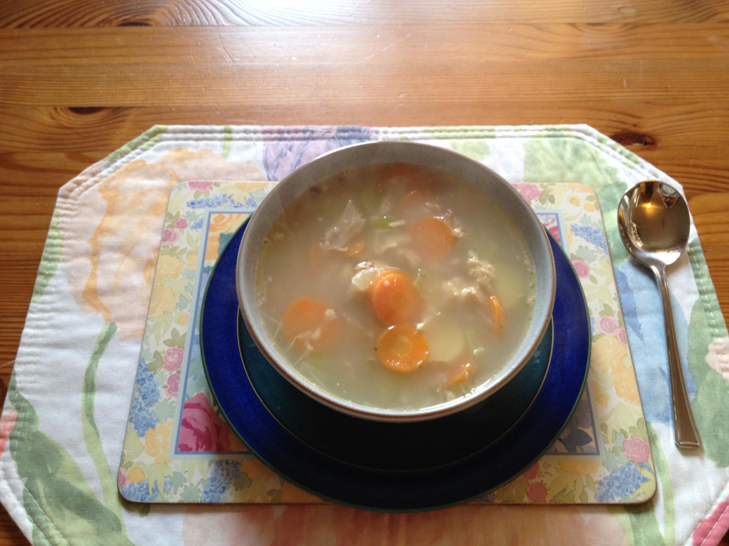 Day1 Dinner- Turkey & Veg Soup
