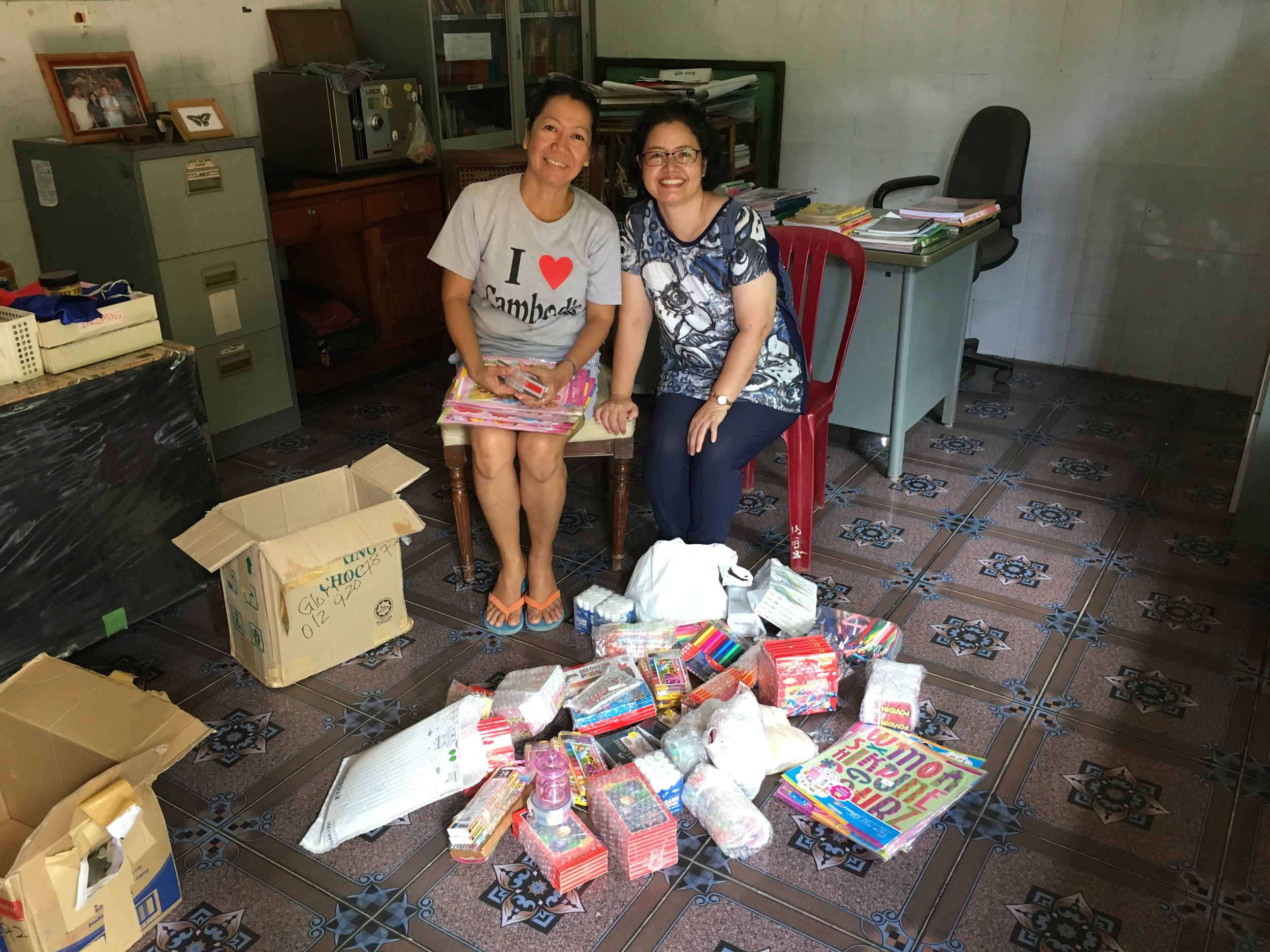 Thank you!!! Happy faces from teacher Jet and Gloria.