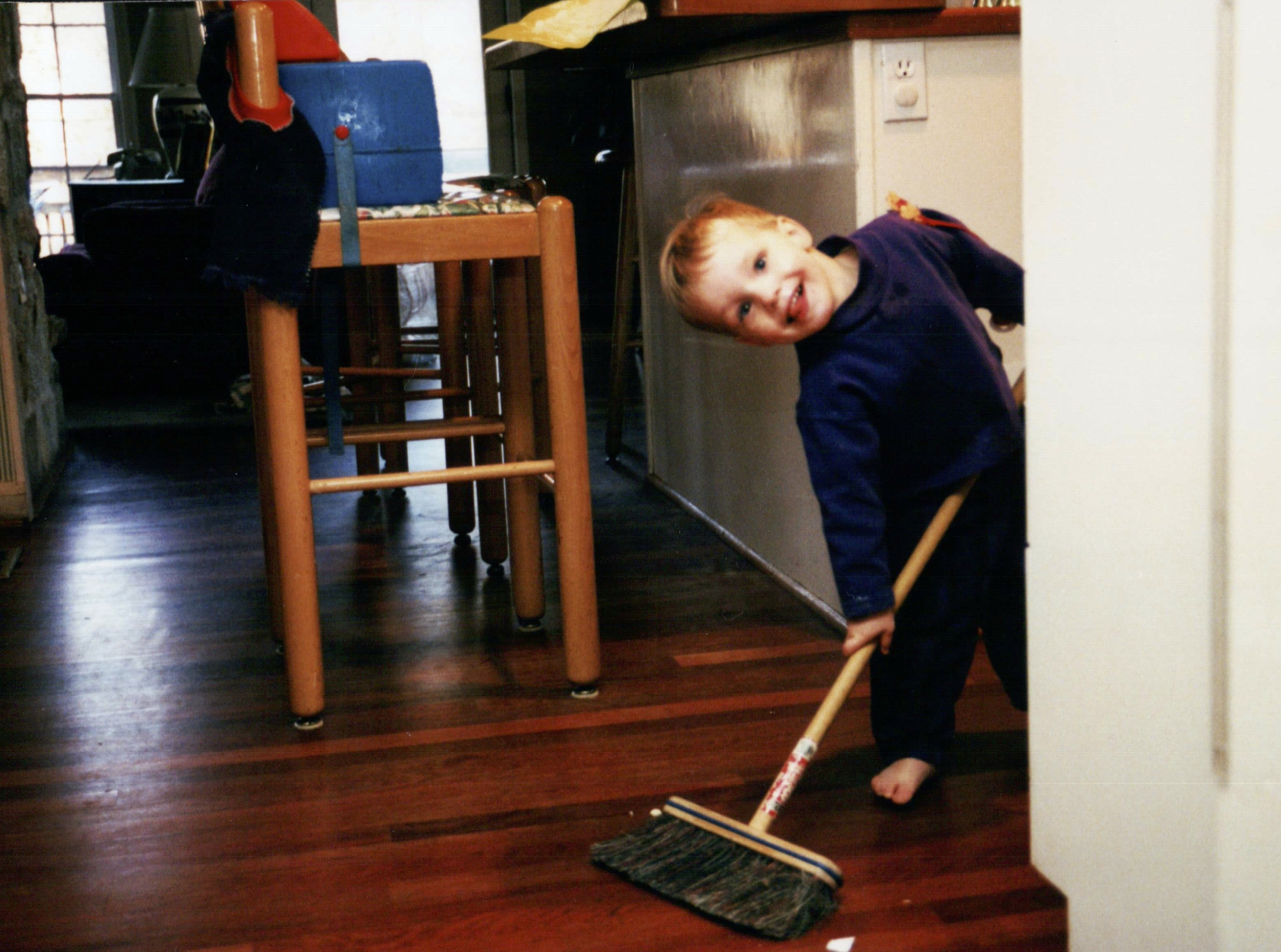 My youngest son Luke, helping clean up after dinner many years ago!