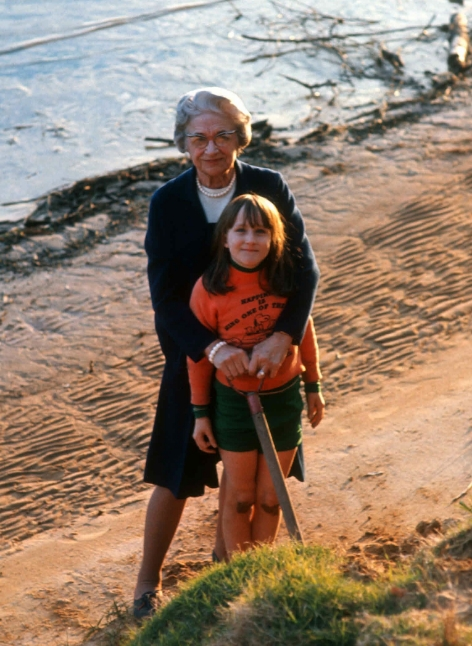 My Grandmother and me at the beach!