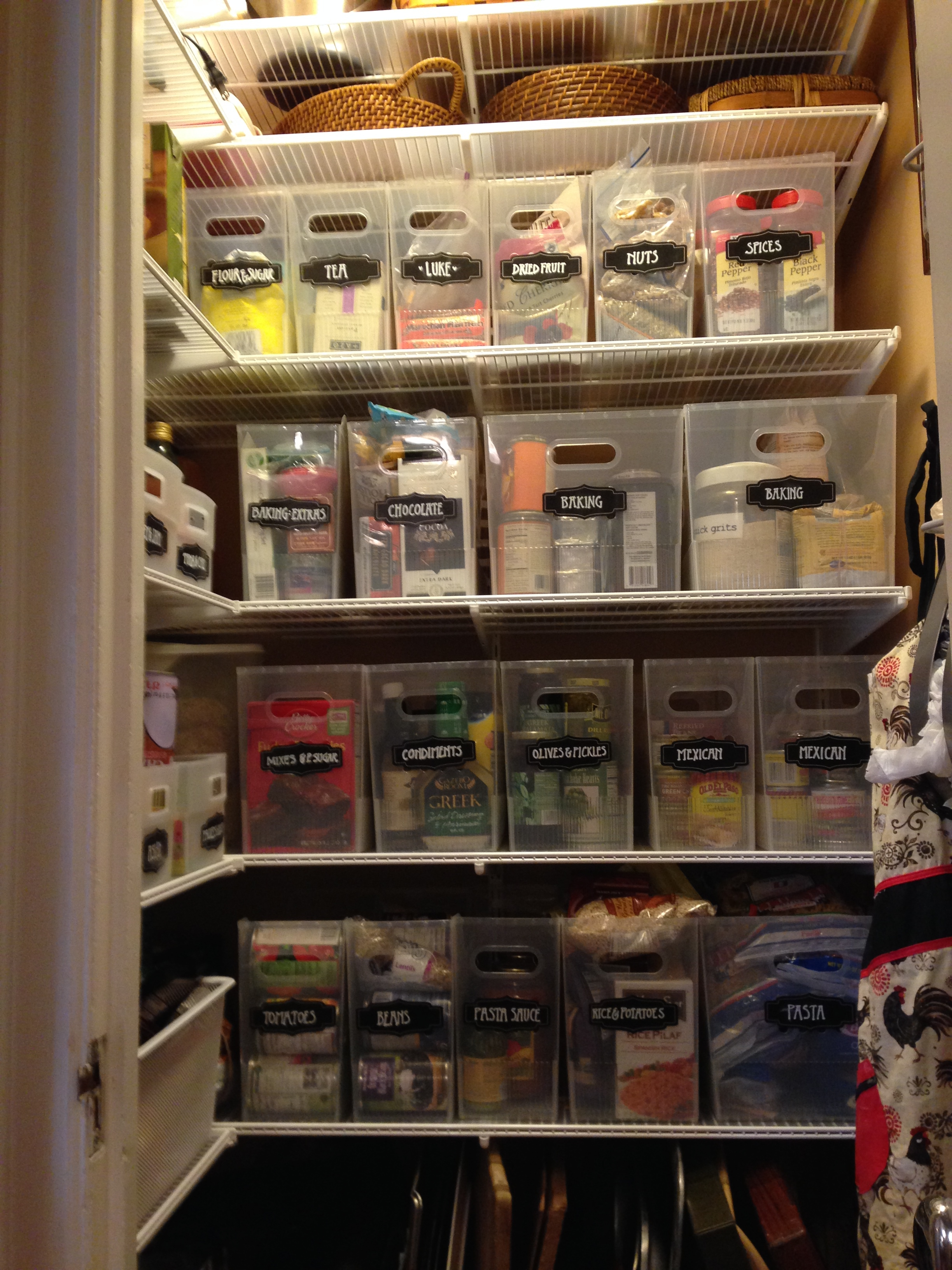 The finished pantry makes it super simple to find anything we need.
