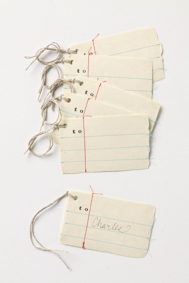 Anthropologie Penmanship Gift Tags