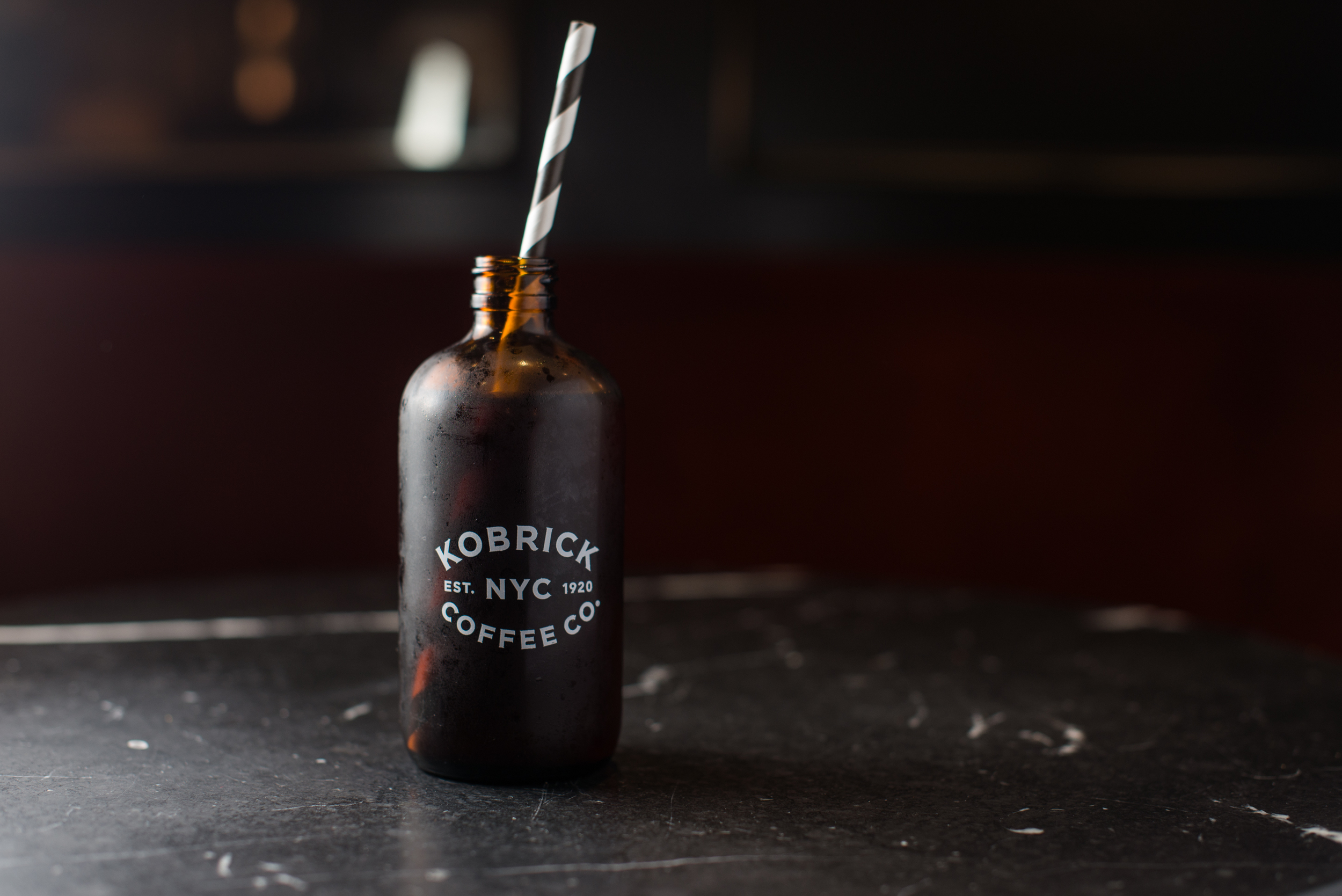 Cute cold brew at Kobrick Coffee, NYC
