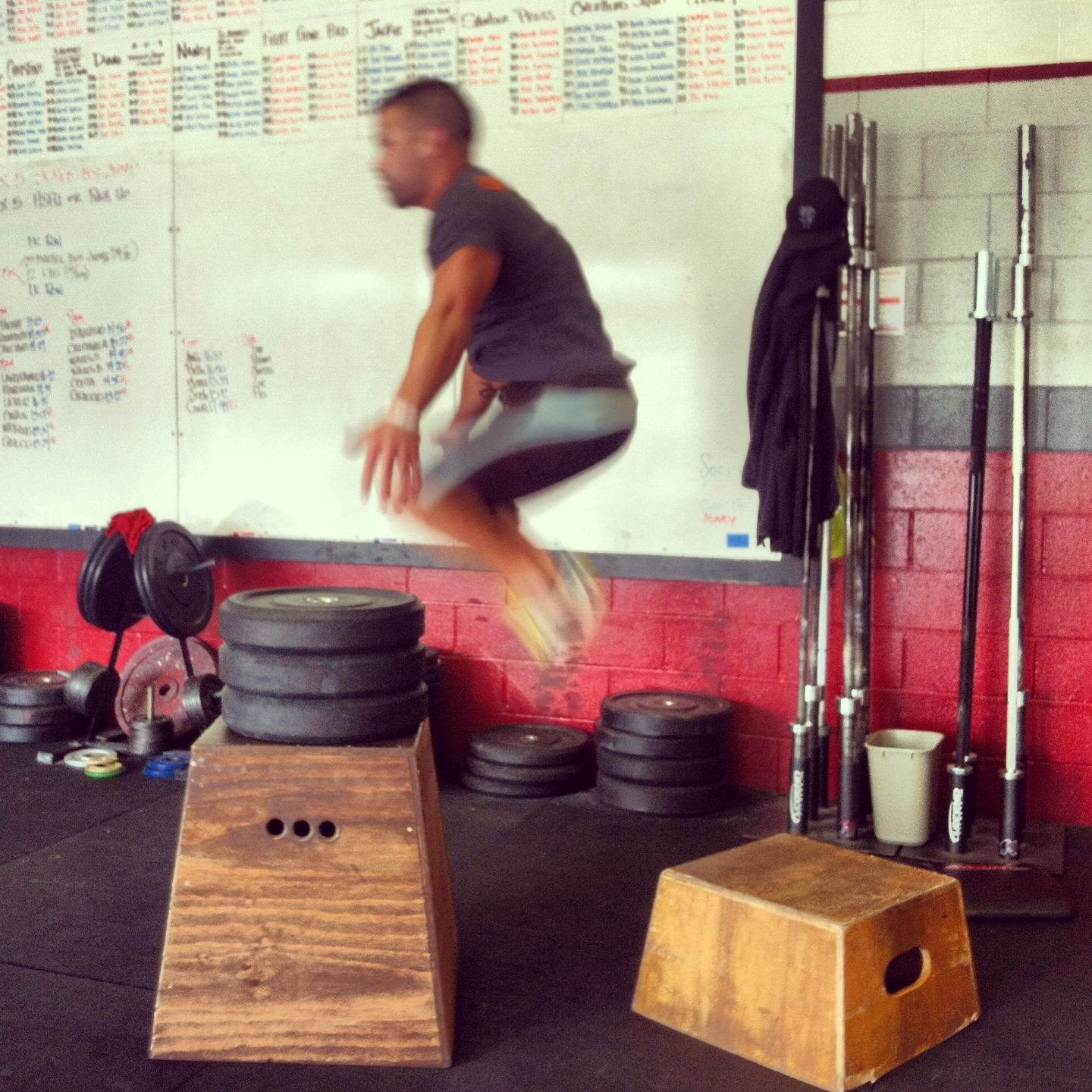 Tim was looking smooth today on those seated box jumps!