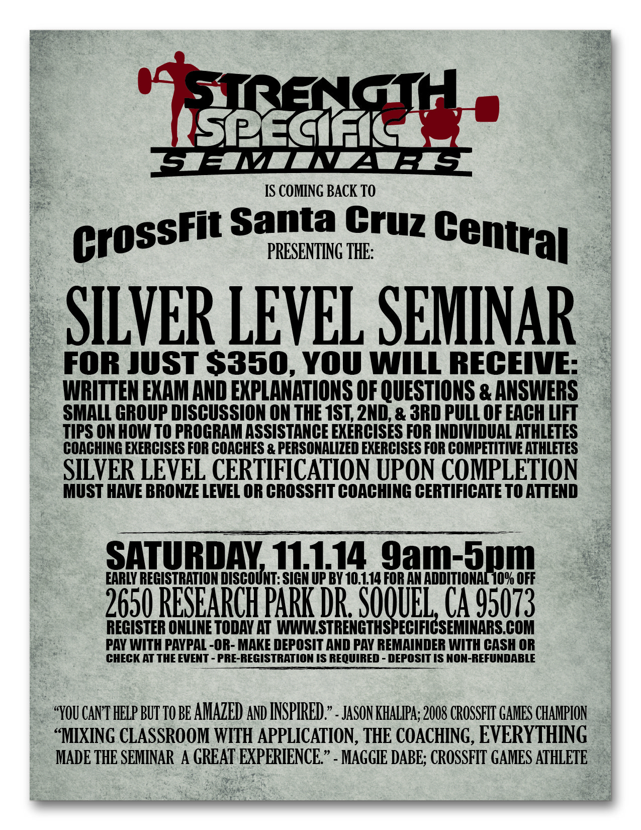 Strength Specific Seminar Flyer