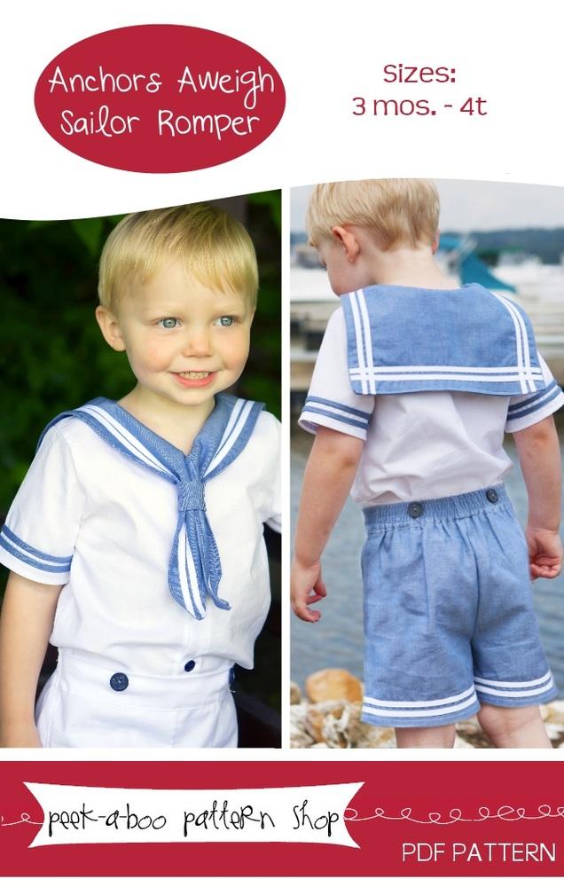 Anchors Aweigh Sailor Romper