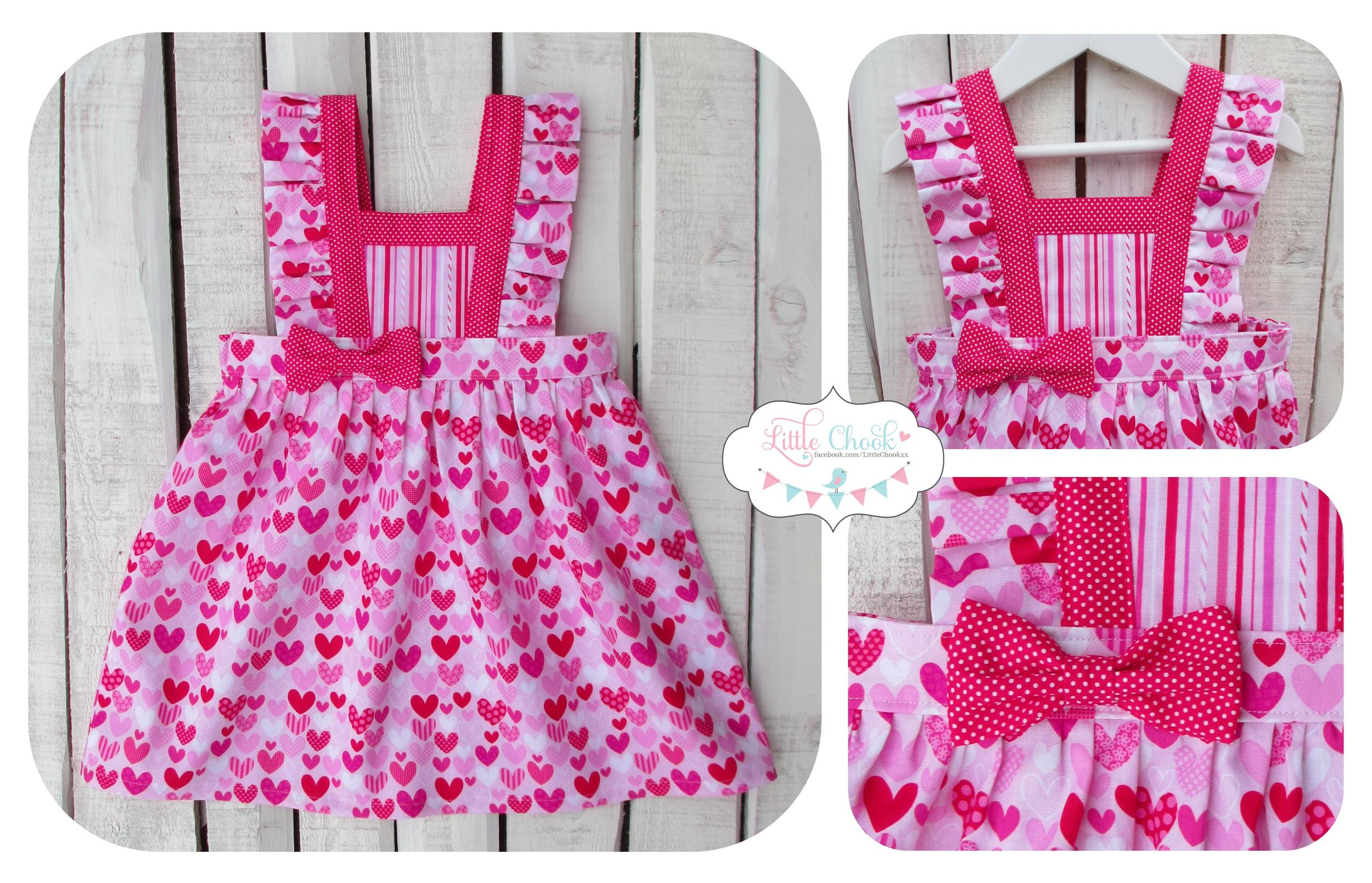 Little Chook - Boo Pinny with Ruffle Sleeves & a Bow.jpg