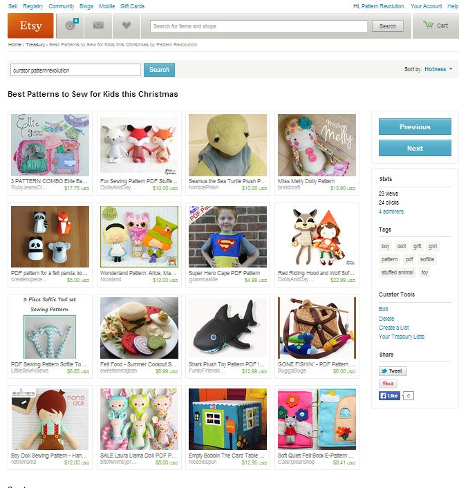 Click to visit our top toy/kid pattern treasury