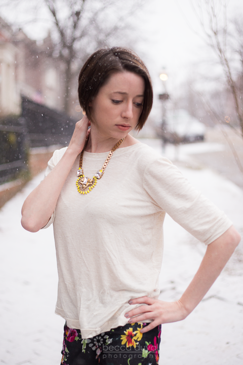 Colette Laurel, Knit Modification.  Pssst, you can WIN that necklace in this month's giveaway!!