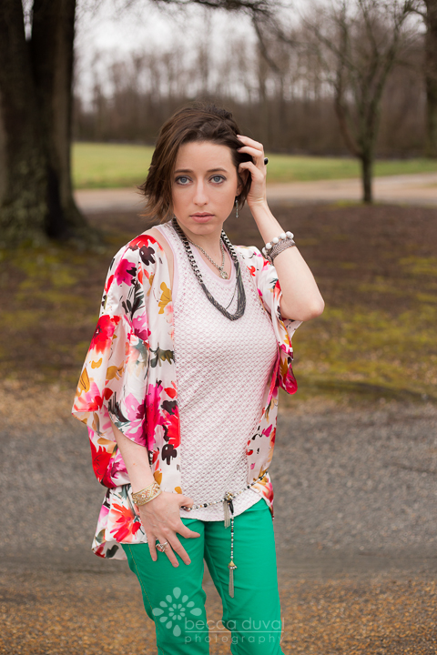 Jocole Racer Back Tank, Jocole Yoga Waistband Skinny Pants, Elle Apparel Kimono, Jewelry styled by Krystle Clark, Rep of esbe Designs@PatternRevolution @SkirtFixation #ChallengeCreate