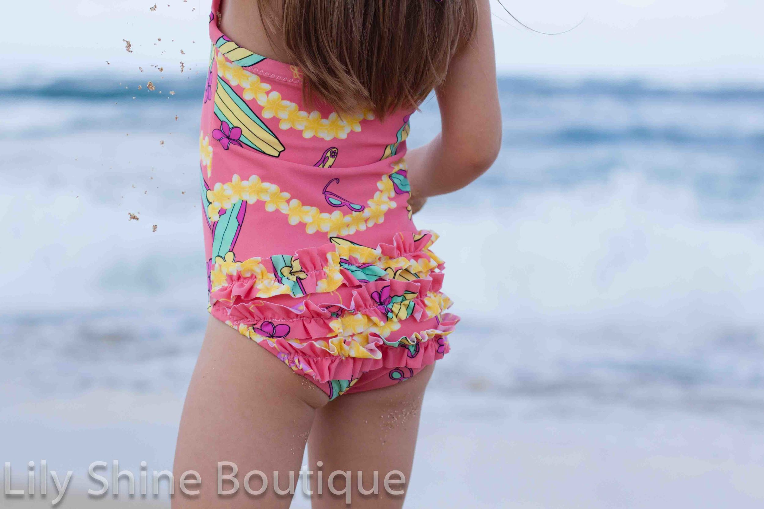 The three bum ruffles are extra adorable for the little ones, and easy to omit for the older gals!