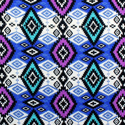 I love this colorful take on the Tribal Print. it scores points for including top Spring Summer on trend colors, and the pattern is perfect to work with the clean lines of this pattern. (*I would probably leave off the ruffle if working with this fabric)