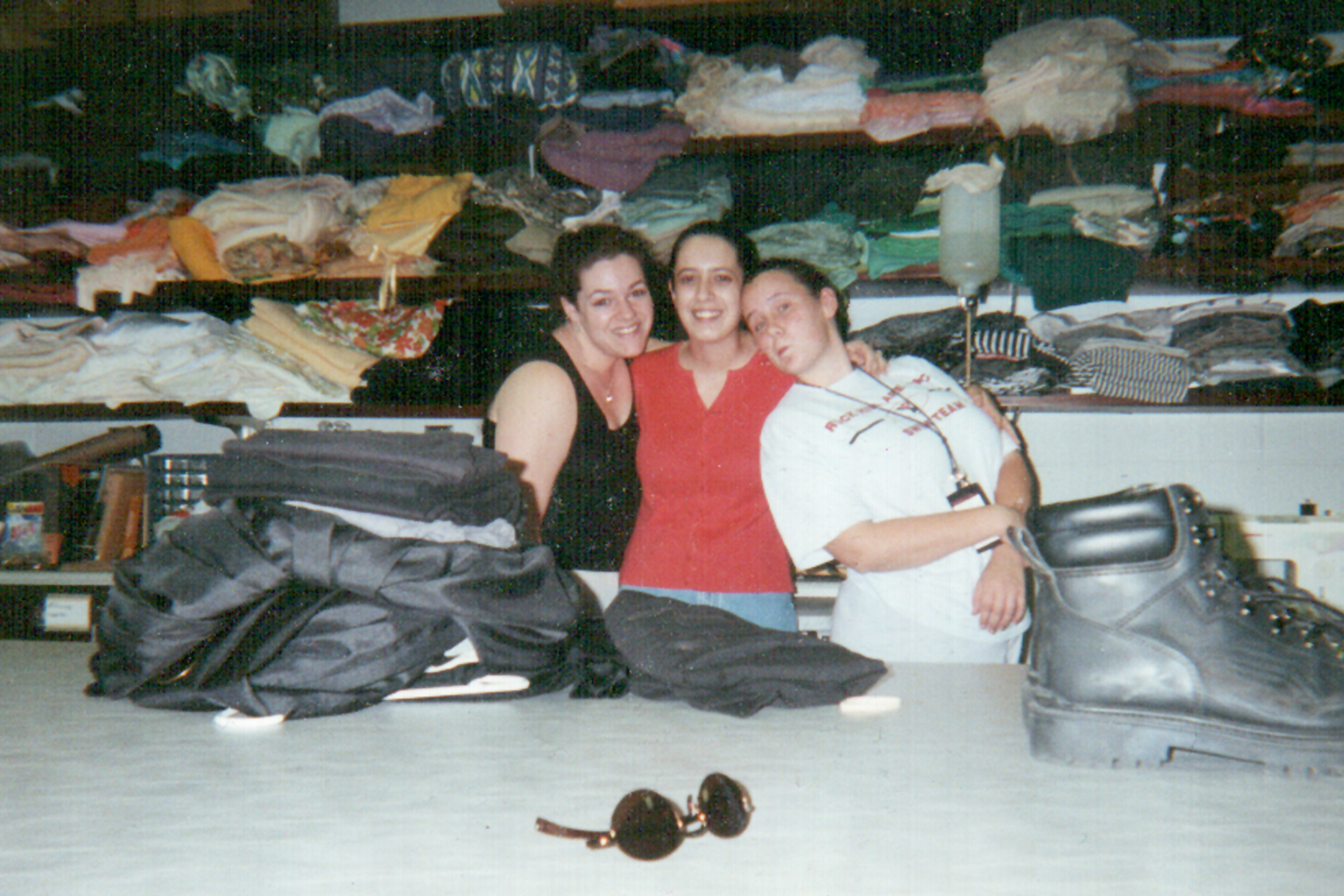 I'm on the left, this was my first costume shop - oh the stash!!!!