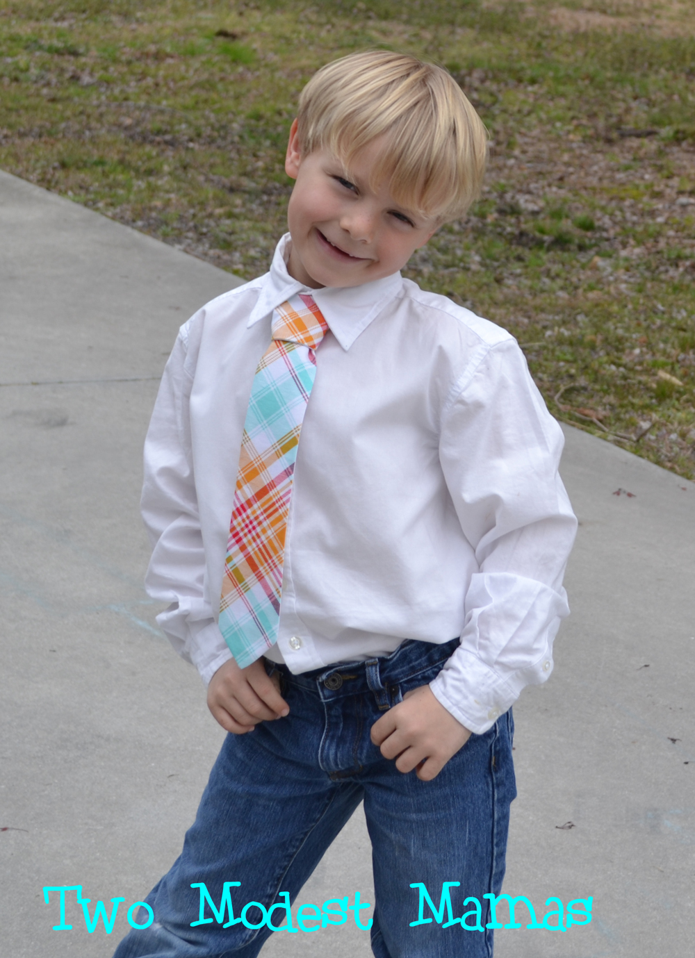 My handsome firstborn in Butterfly Tree Tie