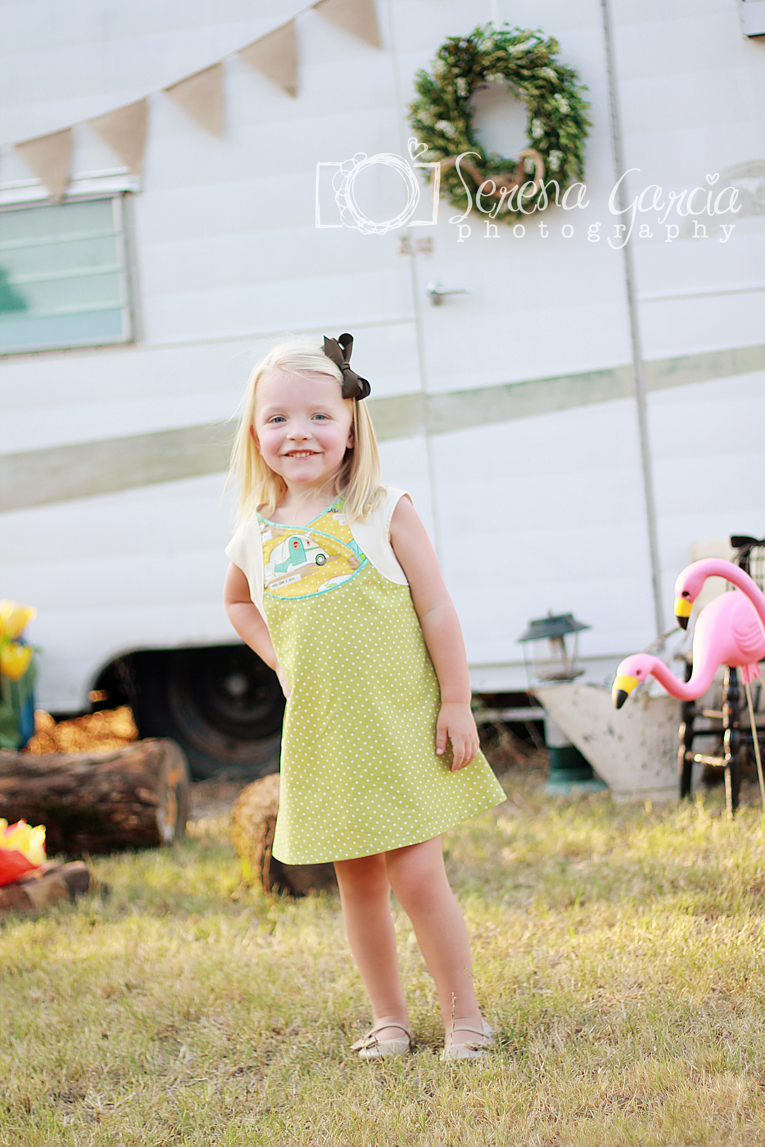 Serena made the Fawn Lilly Dress with Cross over bodice.....