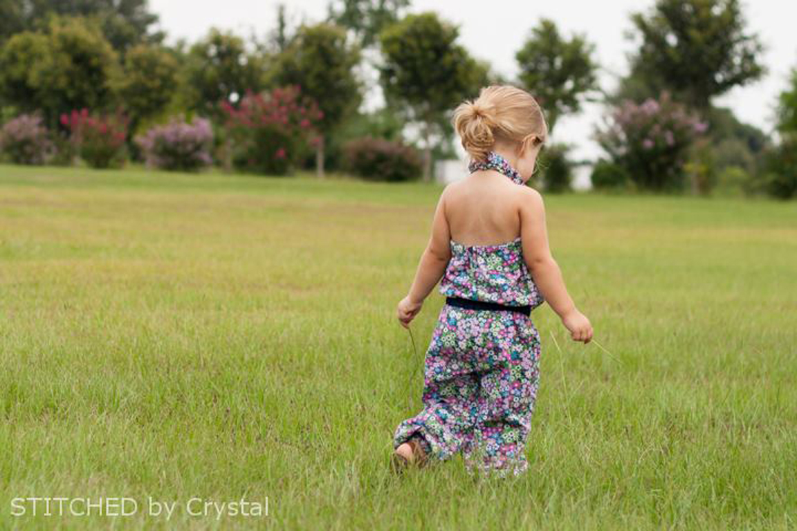 Crystal sewed up this gorgeous floral version of the Ash Jumpsuit