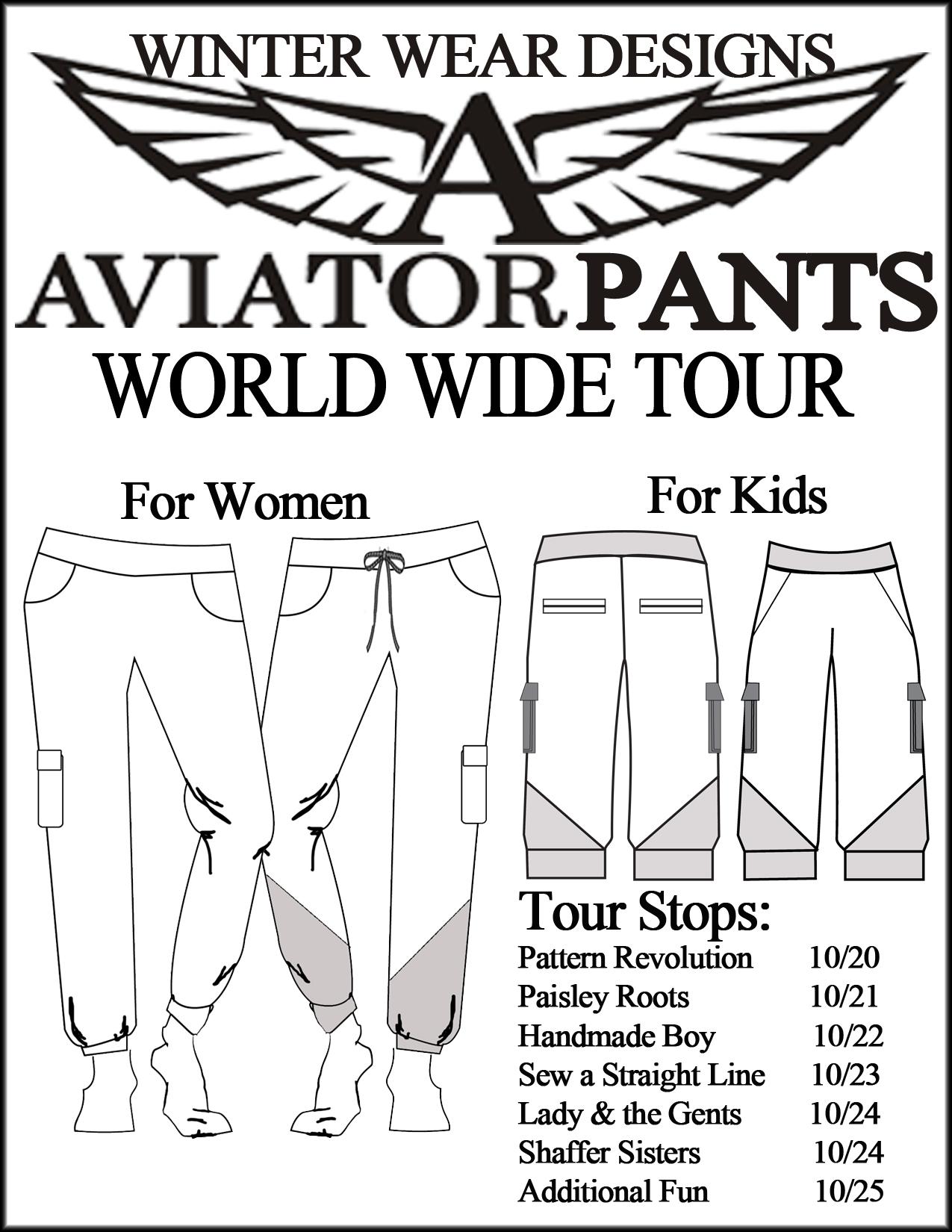 World Wide Tour- Aviator Pants- Winter Wear Designs- Pattern Revolution