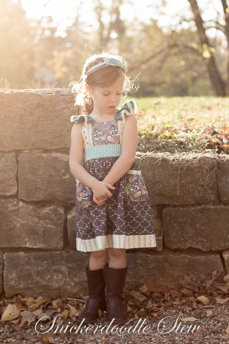 Huckleberry bodice + Tallulah skirt Fabric- Emmy Grace by Bari J. for Art Gallery Fabrics