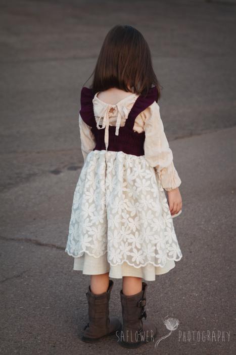 Huckleberry Flutter Apron Dress