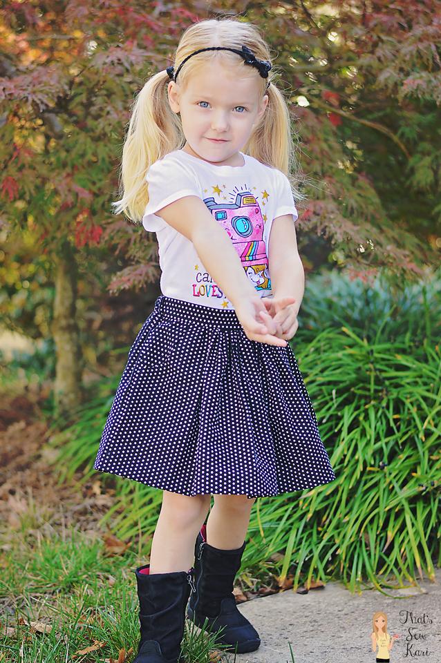 Girl's Gathered Skirt by Pattern Emporium