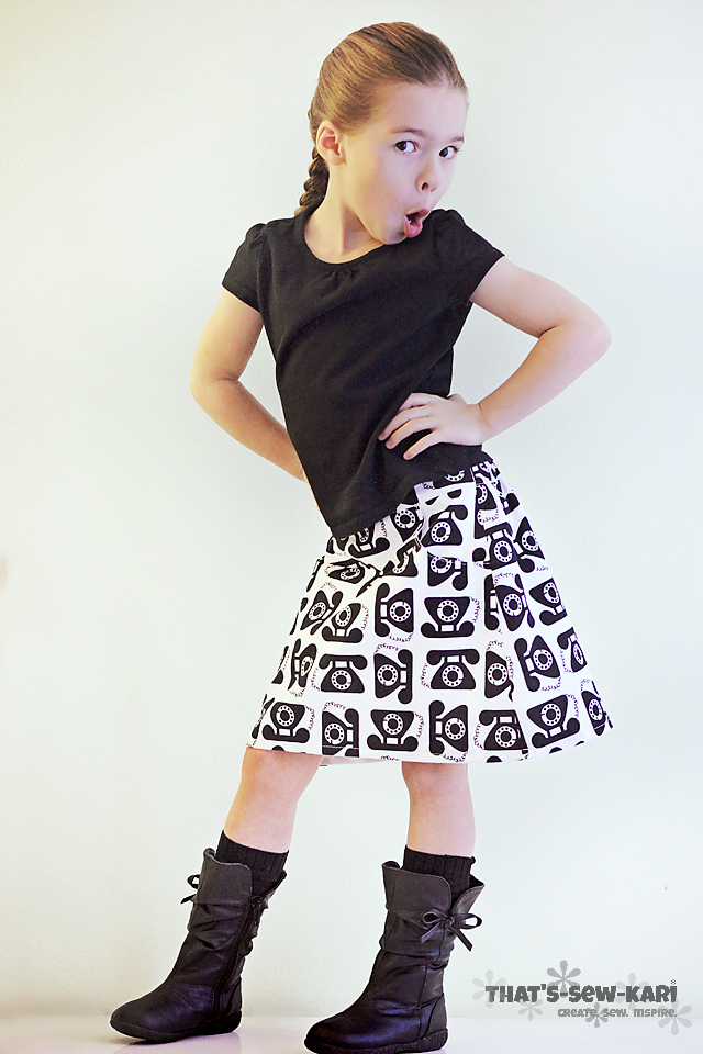 The Potato Chip Skirt by Tie Dy  e Diva available in the Girls' Bundle UP Pattern Sale