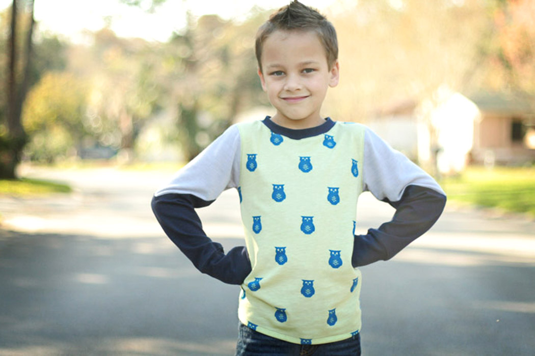 Thumbs Up Tee by Once Upon a Sewing Machine- Pattern Revolution