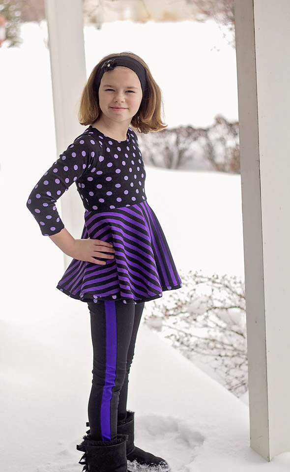 Paisley's Open Back Peplum Top and Dress by the Simple Life Pattern Company- Pattern Revolution