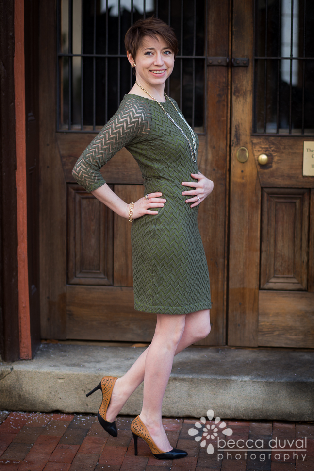 Jocole Pencil Dress in Girl Charlee Hacci Sweater Knit