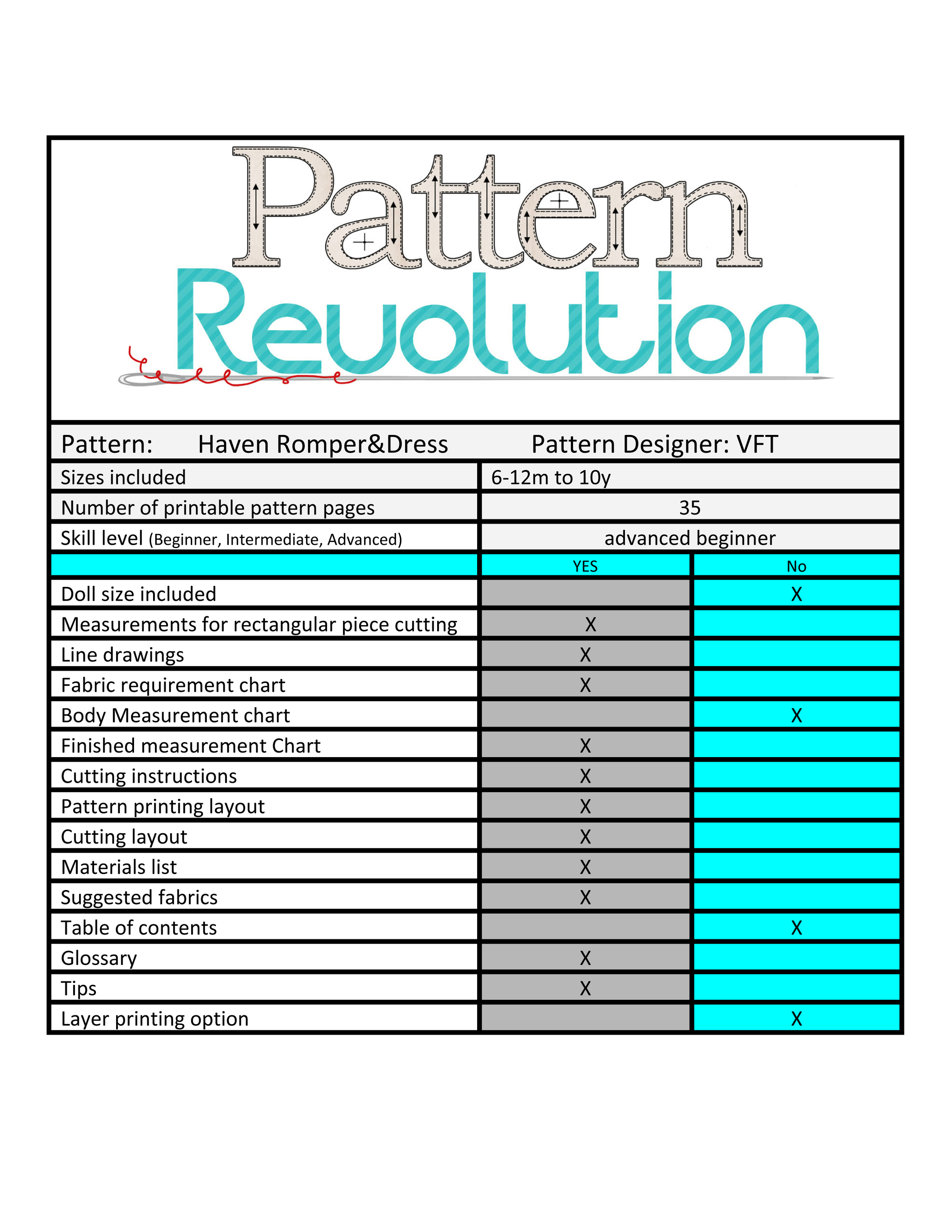 While the pattern pages to print are 35, the pattern does list which pages you need for which version, and includes optional measurements for rectangles so that you don't have to print those pages.