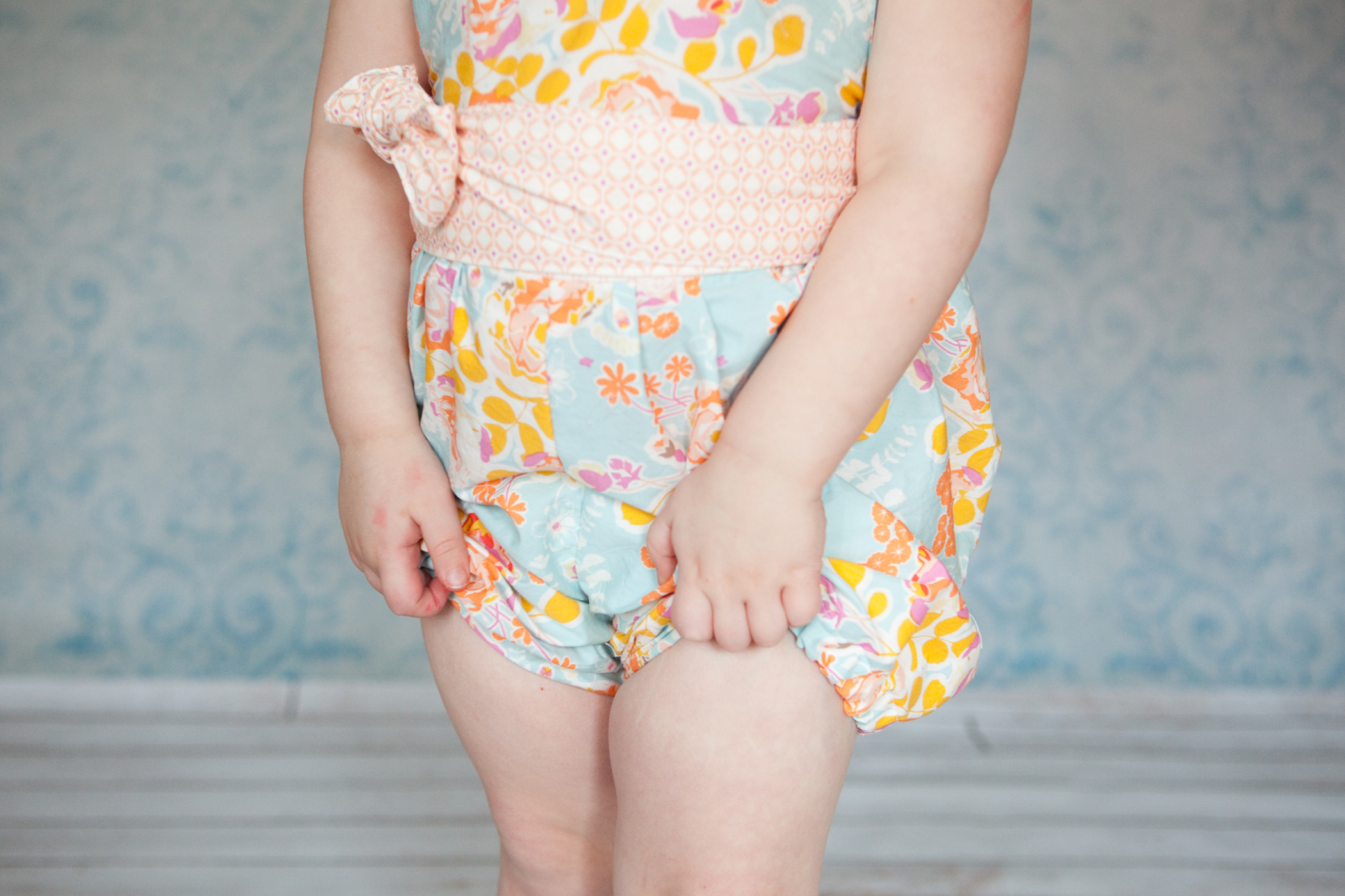 The Haven Short actually come to about an inch above her knee - but she kept doing this the whole shoot - I think it has been way too long since my baby had shorts on!!!!