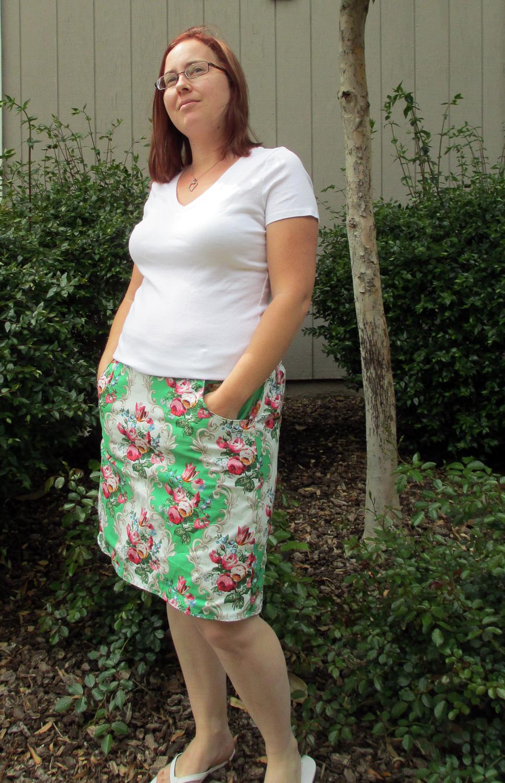 Ladies Chocolate Chip Skirt by Tie Dye Diva- Pattern Revolution