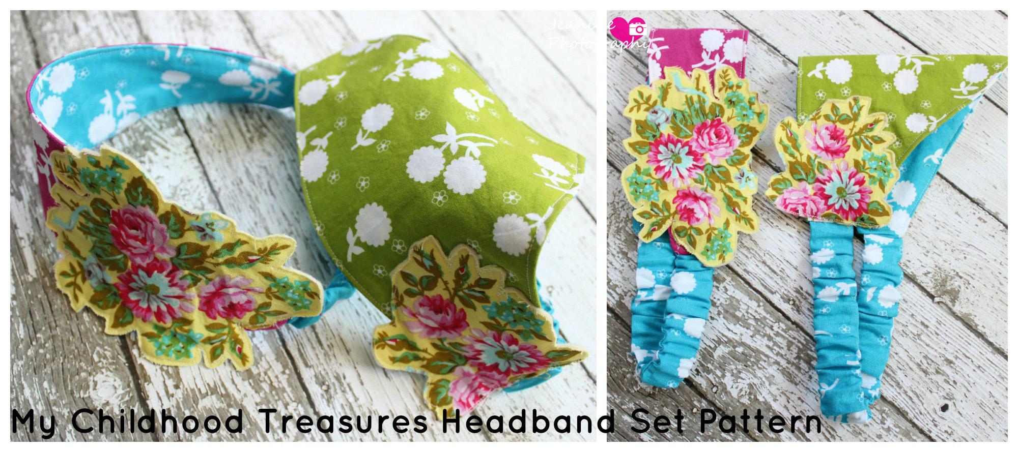 Retro Headbands Pattern from My Childhood Treasures- Pattern Revolution