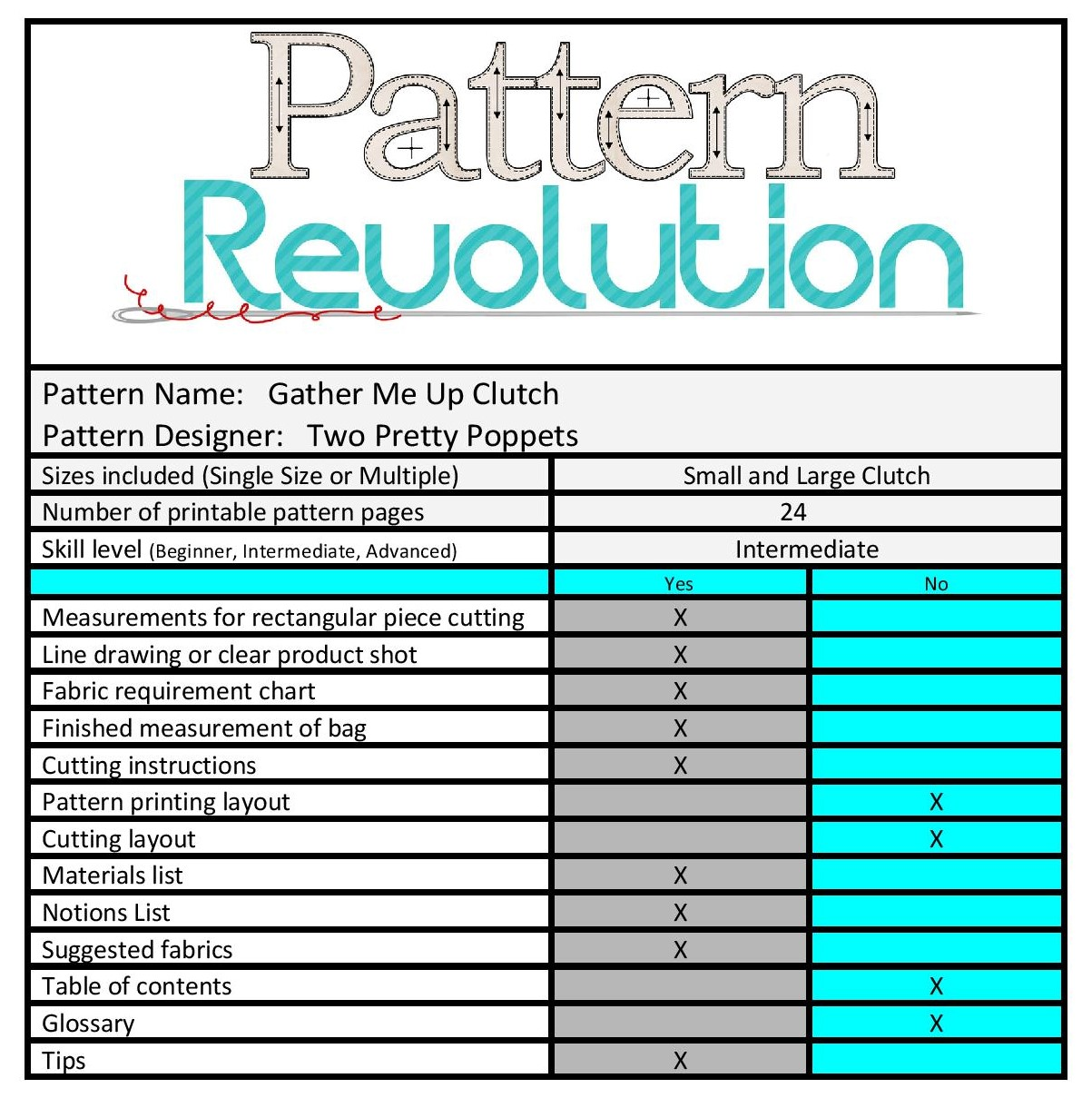 Gather Me Up Clutch by Two Pretty Poppets- Pattern Revolution