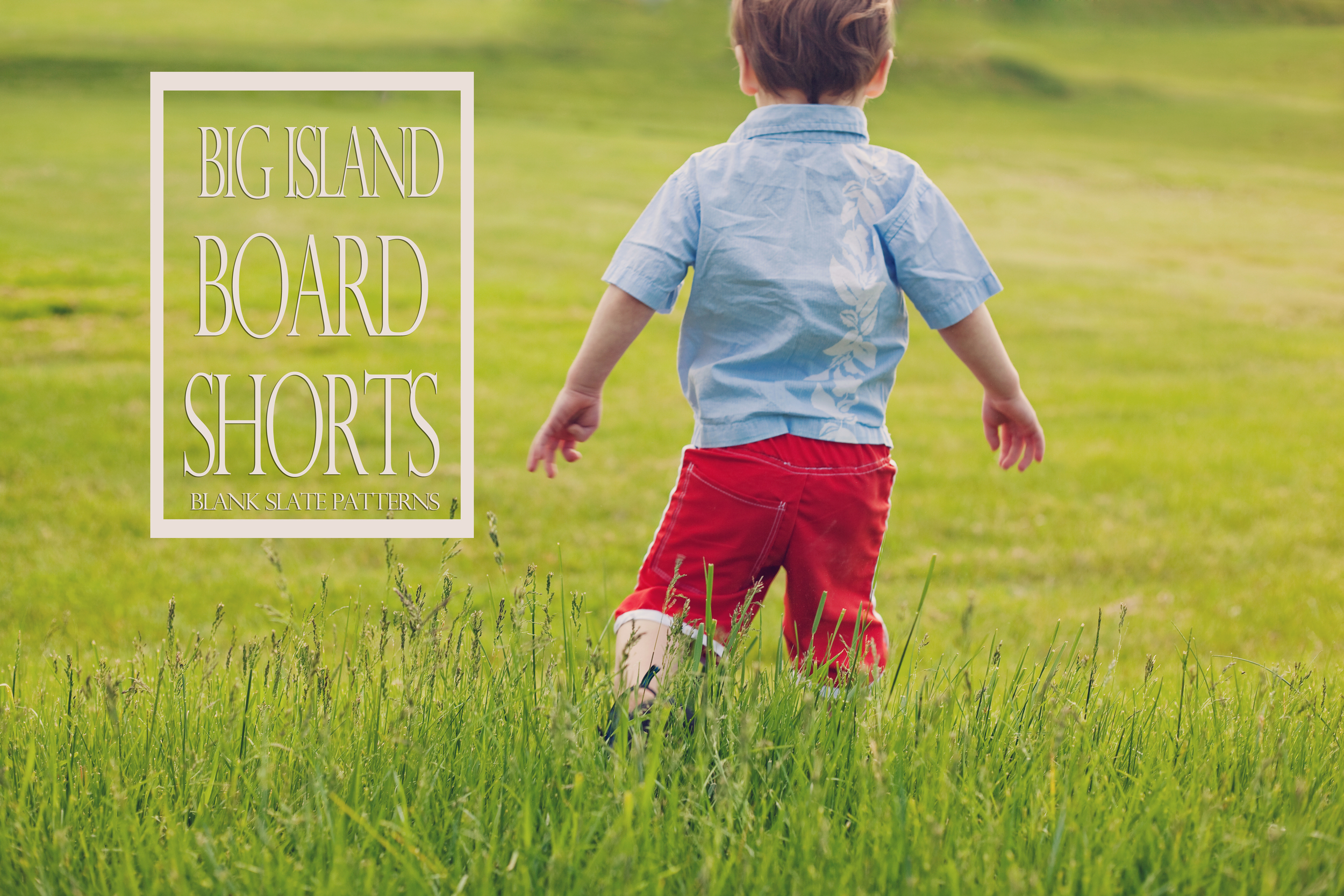 Upcycled Big Island Board Shorts from Blank Slate Patterns.