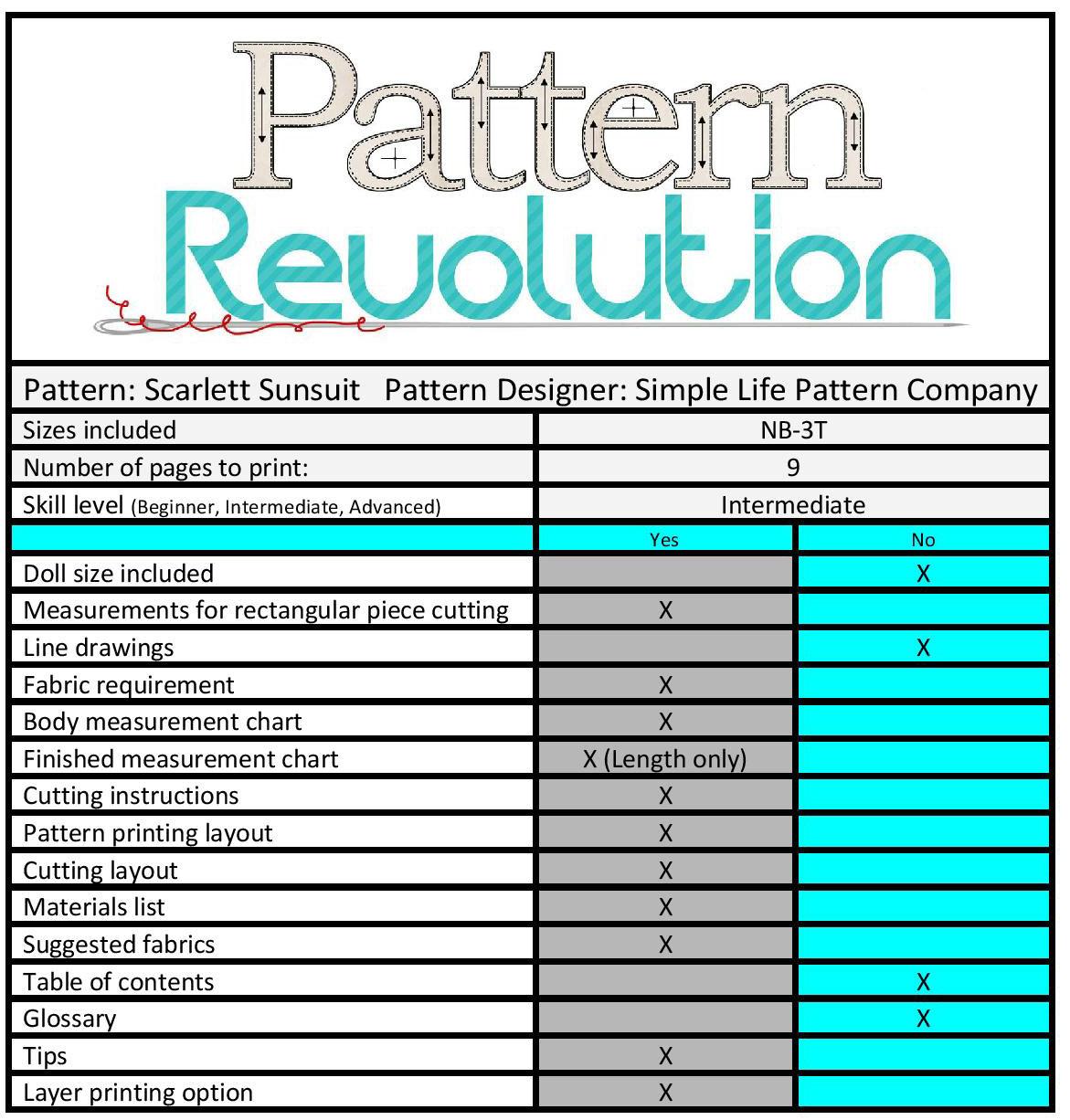 Scarlett's sun suit SLPCo- Pattern Revolution