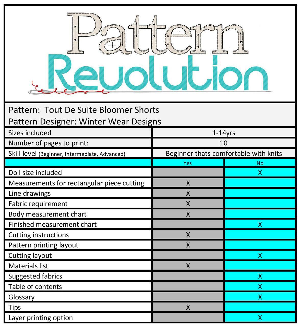 Tout de Suite shorts by WWD- Pattern Revolution