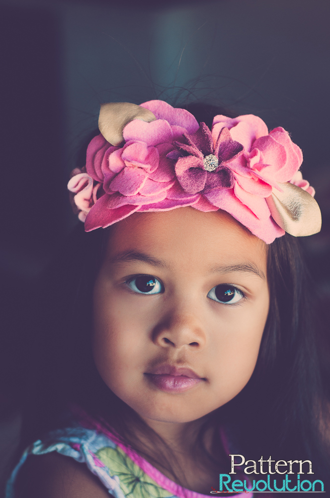 Coco Flower Crown sewn by Lisa