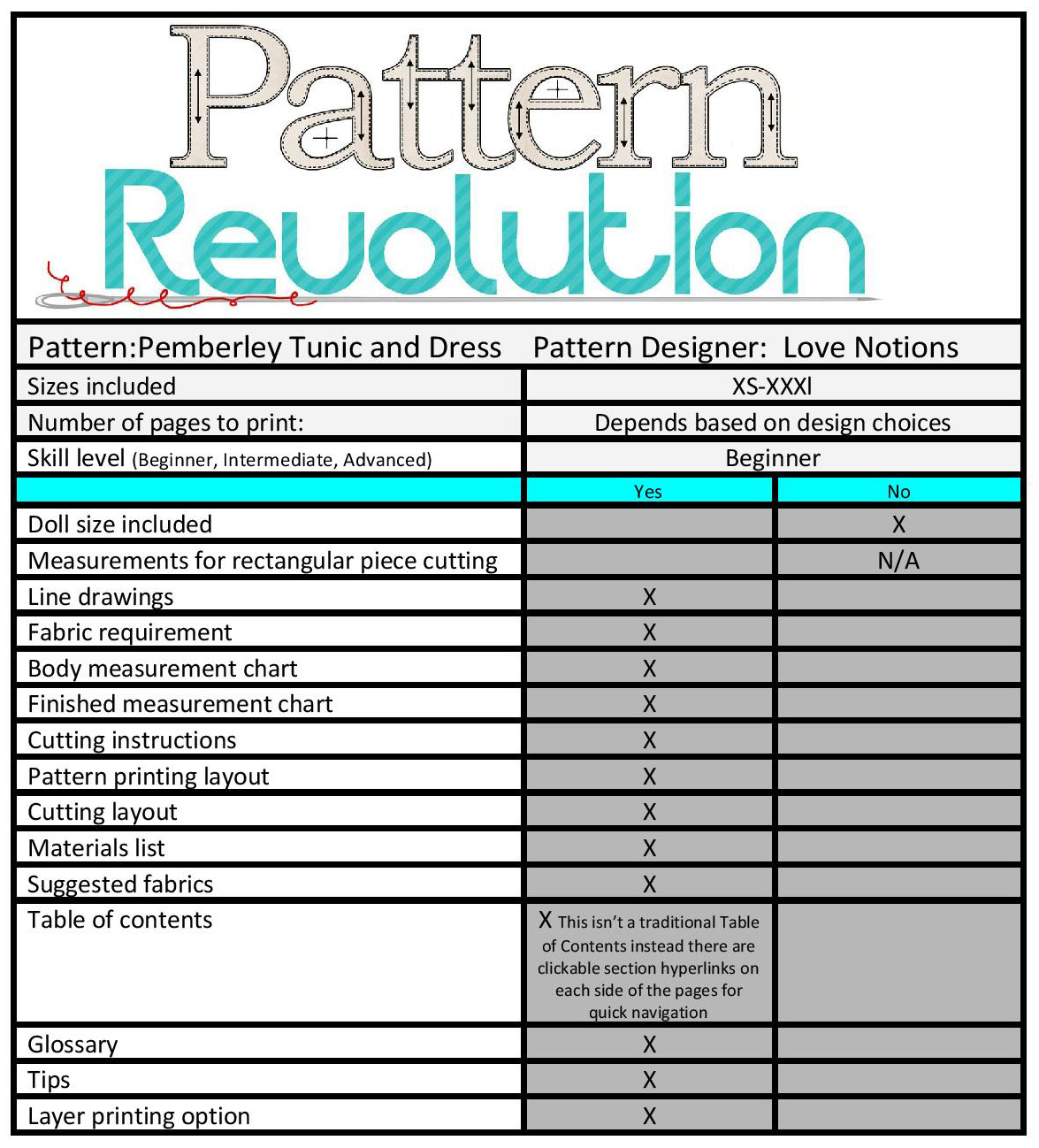 Love Notions Pemberley- Pattern Revolution