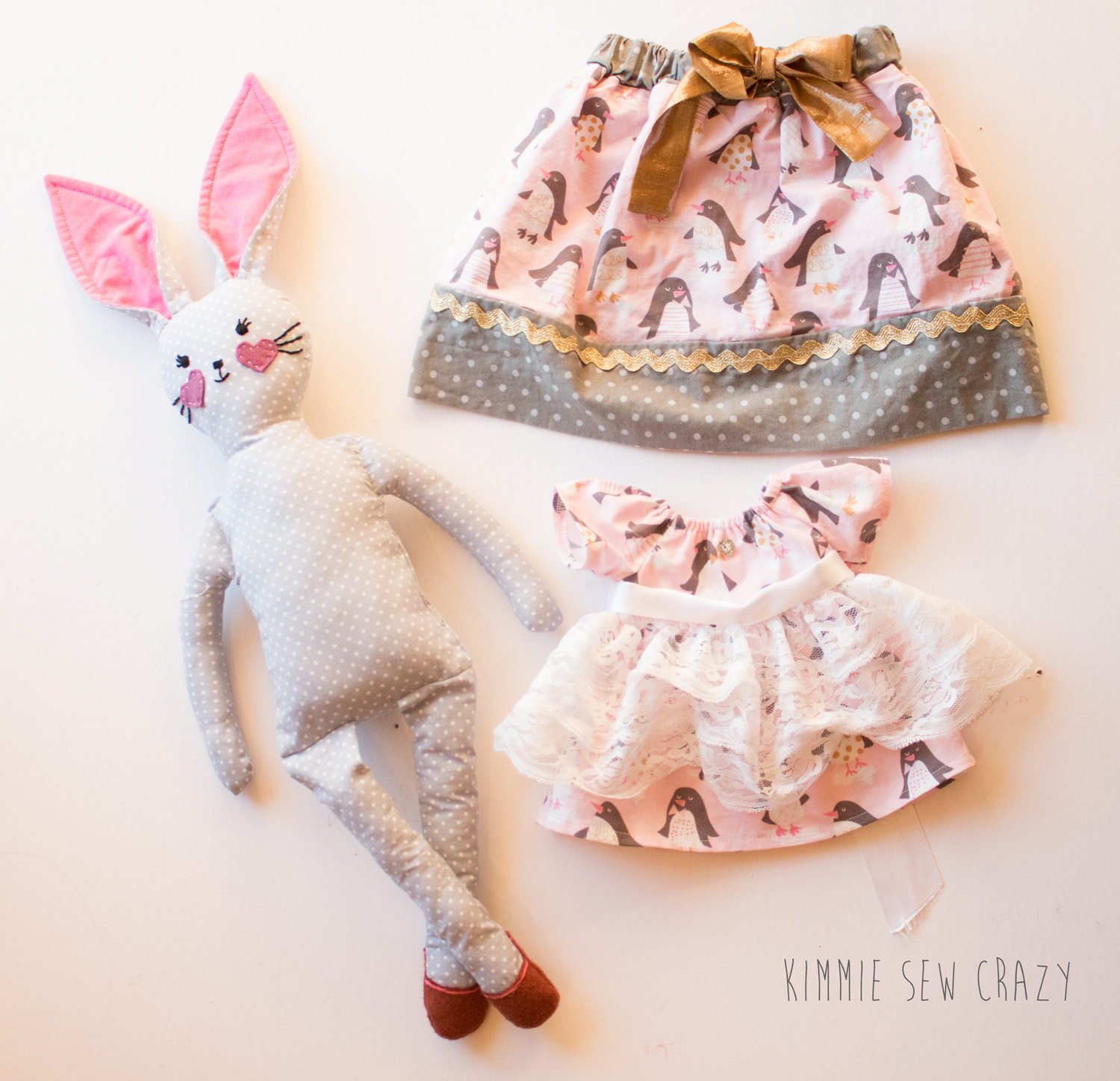 (Skirt not included in pattern)